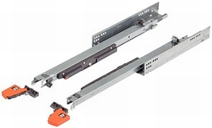 Blum Movento inclusief push-to-open 600mm - 60kg<br />Per paar