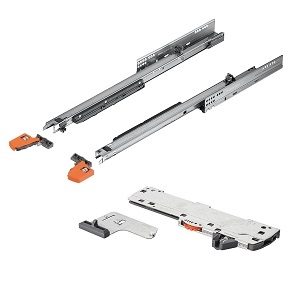 Blum Movento incl. softlcosing en push to open 650mm - 60kg<br />Per paar